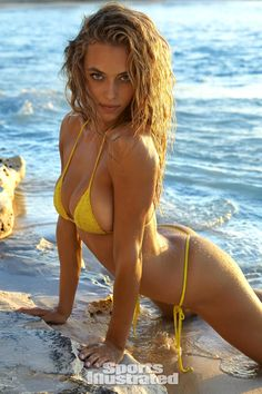 Hannah Ferguson was photographed by James Macari in Turks & Caicos for Sports Illustrated Swimsuit Issue Hannah Ferguson, Sports Illustrated Swimsuit 2016, Sports Illustrated Models, The Bikini, Bikini Girls, Bikini Beach, Yellow Bikini, Swimsuits 2016, Swimwear