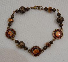 Gold Pumpkin Halloween Link Bracelet handmade New Accessories Fashion  #Handmade #Chain http://www.ebay.com/itm/-/152269675906?