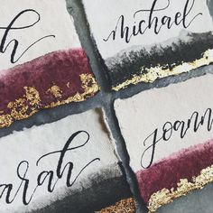 "181 Likes, 20 Comments - Kelly Marie (@bashcalligraphy) on Instagram: ""One last shot before these are packaged up! This cotton rag paper from @fabulousfancypants is my…"""