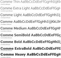 Fresh Free Font Of The Day : Comme