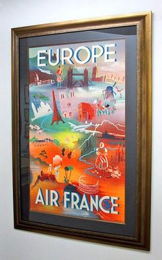 WOW! Check out the awesome vintage Air France poster that our friends at KENT Picture Framing just finished up! It looks excellent!