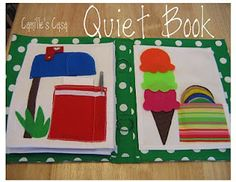 Detailed patterns for quiet book pages.