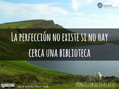 La perfección no existe si no hay cerca una biblioteca