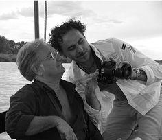 Luigi Pellanda con l'amico artista fotografo Giovanni Marinelli