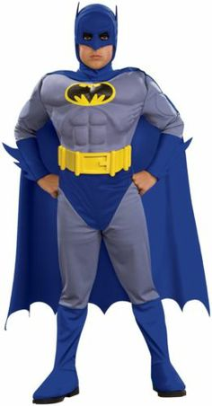 Batman Brave and Bold Deluxe M/C Batman Toddler / Child blue Costume