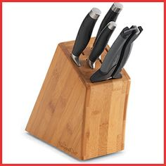 Small Bamboo Knife Block Set