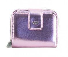 !!!Fritzi aus Preußen Viola Electric Blush Metal rosa Geldbeutel Zip Around Wallet, Electric, Pink, Pocket Wallet, Artificial Leather, Sachets, Bags