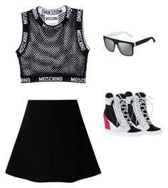 """""""Untitled #946"""" by abbey-ceee ❤ liked on Polyvore featuring Moschino, RED Valentino, Gucci and Giuseppe Zanotti"""