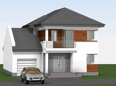 Modern House Floor Plans, Architectural House Plans, House Front Design, Home Fashion, Shed, Outdoor Structures, Mansions, Architecture, House Styles