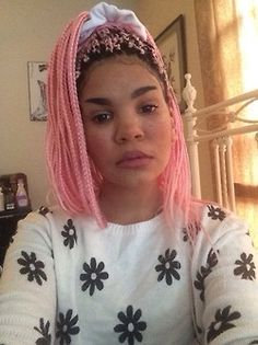 Pink box braids.. Late winter/early spring hairstyle