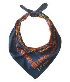 Blue Harding Jacquard Bandana - Pendleton Woolen Mills - Soft, generously sized cotton bandana in an archival design. One of our most popular patterns, the Harding jacquard debuted on a Pendleton blanket given to President Warren Harding's wife during a 1923 visit to Oregon.
