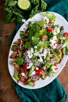 Griekse kapsalon Salad Recipes, Healthy Recipes, Healthy Food, Chicken Recepies, No Cook Meals, Food For Thought, Cobb Salad, Great Recipes, Gluten