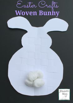 Easter Crafts Woven Bunny- This is fun fine motor activity for kids!