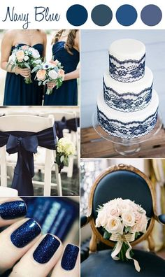 shades of navy blue wedding color ideas..Don't forget navy personalized napkins for your big day! #itsallinthedetails www.napkinspersonalized.com
