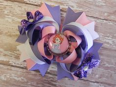 Sofia the First Boutique Layered Bottle Cap by sweetteabowtique, $7.50