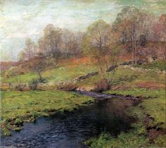 """""""The Trout Brook"""", 1907 by Willard Leroy Metcalf (1858-1925, United States)"""