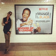 Samaria Wiley (@whododatlikedat) likes what she sees in the subway stations.