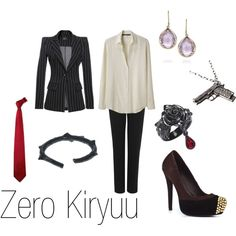 """""""Zero Kiryuu"""" by ja-vy on Polyvore  Vampire Knight! I would wear this in a heart beat <3"""