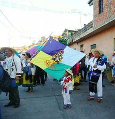 Juchari Unapicua!!! P'urhepecha flag!! Bandera P'urhepecha! MICHOACAN MX.