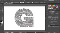 How to Fill a Character with Text in Adobe Illustrator – Design Graphic Design Tools, Graphic Design Tutorials, Tool Design, Graphic Design Inspiration, Flat Design, Web Design, Vector Design, Adobe Illustrator Tutorials, Photoshop Illustrator