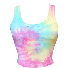 Tie Dye Crop Top ($20) ❤ liked on Polyvore featuring tops, crop top, scoopneck top, tie-dye tops, tie dye tops and scoop neck top