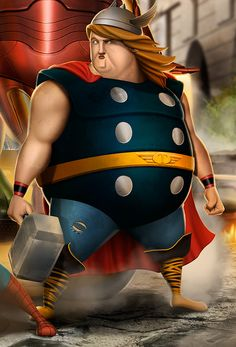 Does thor get fat in the comic books