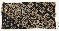 Ashmolean - Egyptian Fustat Indian Textile fragment with ornate, dotted, and large rosettes Textile Patterns, Textile Prints, India West, Textile Museum, Indian Textiles, Ethnic Print, Indian Summer, Surface Pattern Design, Asian Art