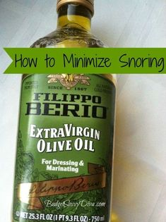 How To Minimize Snoring