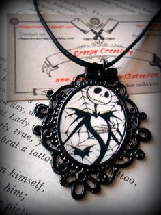 Nightmare before Christmas Cameo Necklace by kreepshow kouture made by request only. $11.99