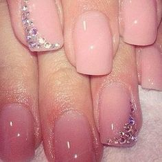 Pale pink with a hint of sparkle