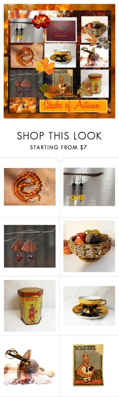 """Shades of Autumn"" by imaginebaby ❤ liked on Polyvore featuring kitchen and vintage"