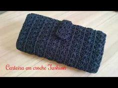 Crochet Wallet, Crochet Clutch, Crochet Handbags, Crochet Purses, Crochet Bag Tutorials, Crochet Videos, Crochet Projects, Love Crochet, Crochet Flowers