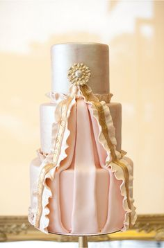 Metallic Wedding Cakes - Belle the Magazine . The Wedding Blog For The Sophisticated Bride