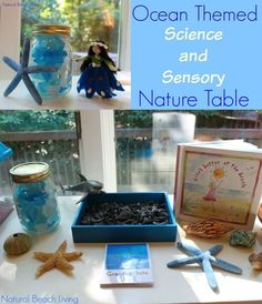 It's not just a table, it's a Science, Sensory, Nature table full of exciting items to discover. Check out the coolest sensory bin EVER!