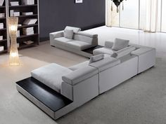 SKU: VIG-VG2T0615-SF The Forte is a gray microfiber contemporary sectional that is both soft and solid with a suede-like feel. The multiple parts of the whole include: a 2-seater with left arm rest, a