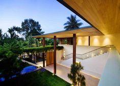 Diseño tropical, minimalista y contemporáneo.