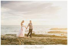 A dreamy set of engagement photos at the Victoria Beach castle tower in Laguna Beach, CA.