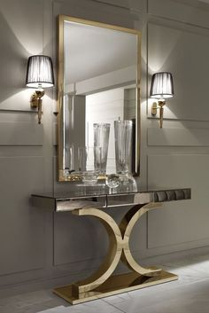 Mirrors are fundamental pieces for any interior, or decor style. Here we explore 10 decorative mirror designs for the modern home decor Luxury Home Decor, Luxury Interior, Modern Interior Design, Interior Design Inspiration, Luxury Furniture, Luxury Homes, Mirror Furniture, Diy Inspiration, Design Ideas