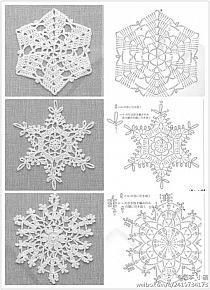 Crochet snowflake chart pattern