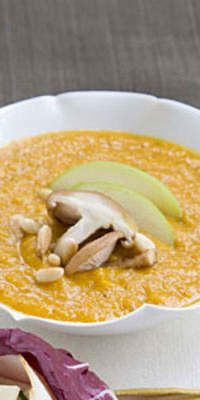 Apple-Butternut Squash Soup  - These cold weather combos bring a gourmet taste to a quick and healthy recipes.