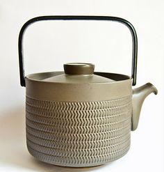 Denby Chevron Teapot - Steel Handled.  Classic Scandinavian design