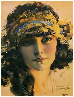 Art Nouveau Poster/Art Deco Print/Rolf Armstrong/Dream Girl With Long Tresses Rolf Armstrong, Art Nouveau Poster, Art Deco Print, Poster Art, Posters Vintage, Retro Posters, Vintage Artwork, Vintage Prints, Pinup Art