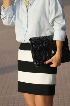 Restyling A Striped Skirt   #