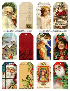 All sizes | Free To Use Christmas Gift Tags Collage Sheet | Flickr - Photo Sharing!