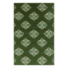 Hand-hooked indoor/outdoor rug with a scrolling medallion motif.   Product: RugConstruction Material: 100% PolypropyleneColor: Spruce green, stormy sea and ivoryFeatures:  Hand-hookedSuitable for indoor or outdoor use Note: Please be aware that actual colors may vary from those shown on your screen. Accent rugs may also not show the entire pattern that the corresponding area rugs have.Cleaning and Care: Blot stains