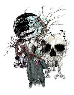 """Treeple Collage"" by Alex Pardee ☠️"