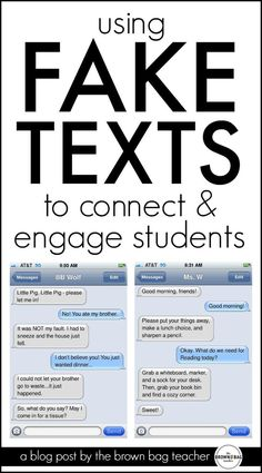 Such a SIMPLE and free idea for using text messages in the classroom. I love the last idea for building and assessing vocabulary!