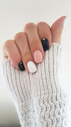 Nagellack Design, Nagellack Trends, Stylish Nails, Trendy Nails, Nail Shapes Squoval, Nails Shape, Nagel Bling, Dipped Nails, Colorful Nail Designs
