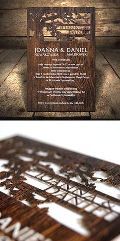 wedding cards, invitation, design, unusual, wood, lasser, unheard,