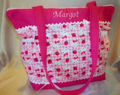 Hello Kitty Cute as a button diaper bag or fun tote bag for all ages | DesignsByKeri4U - Bags & Purses on ArtFire